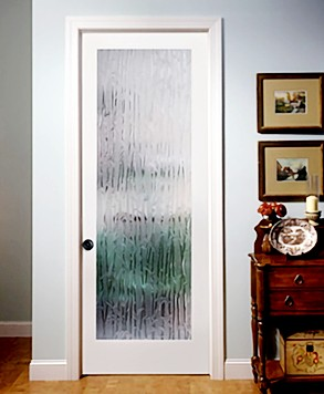 Bamboo Texture Glass Door