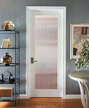 Reed Glass Door