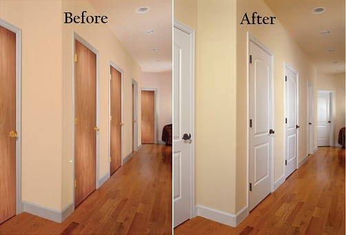Before & After Door Transformation!